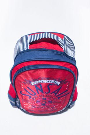 Czerwony plecak szkolny DISNEY z motywem żeglarskim                                  zdj.                                  5