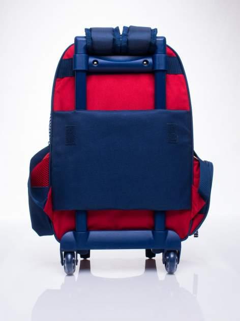 Czerwony plecak szkolny na kółkach walizka DISNEY z motywem żeglarskim                                  zdj.                                  4