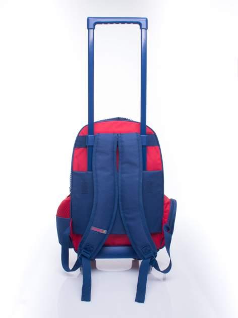 Czerwony plecak szkolny na kółkach walizka DISNEY z motywem żeglarskim                                  zdj.                                  6