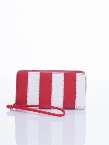 Czerwony portfel w paski                                  zdj.                                  1