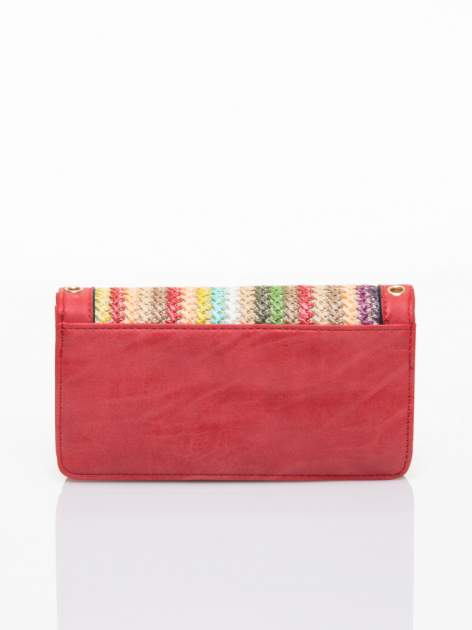Czerwony portfel z plecionką                                  zdj.                                  2