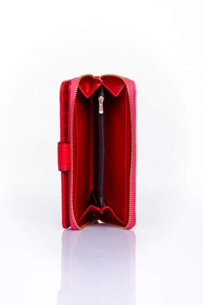 Czerwony portfel ze złotą klamerką                                  zdj.                                  5