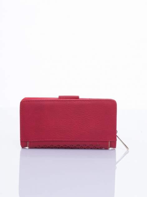 Czerwony portfel ze złotym detalem V                                  zdj.                                  3