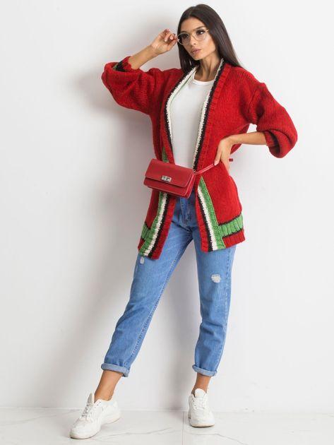Czerwony sweter Lavish                              zdj.                              4