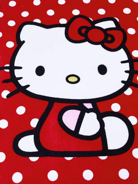 Czerwony szlafrok dla dziewczynki HELLO KITTY                                  zdj.                                  4