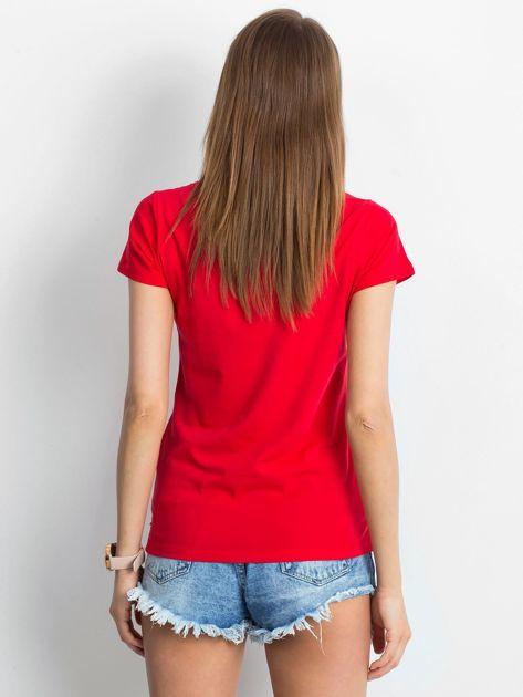 Czerwony t-shirt Square                              zdj.                              2