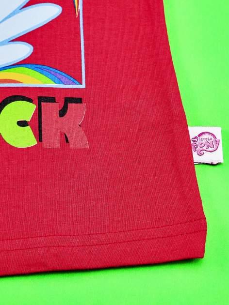 Czerwony t-shirt dla dziewczynki z motywem MY LITTLE PONY                                  zdj.                                  5