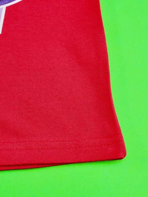Czerwony t-shirt dla dziewczynki z nadrukiem MY LITTLE PONY                                   zdj.                                  5