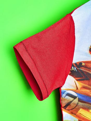 Czerwony t-shirt dziecięcy z nadrukiem SAMOLOTY                                  zdj.                                  6