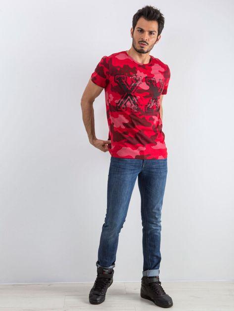 Czerwony t-shirt męski Moro                              zdj.                              4