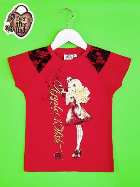 Czerwony t-shirt z koronką dla dziewczynki EVER AFTER HIGH                                  zdj.                                  1