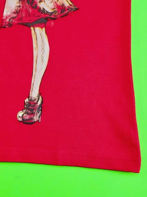 Czerwony t-shirt z koronką dla dziewczynki EVER AFTER HIGH                                  zdj.                                  5