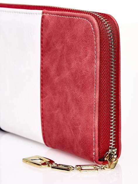 Czerwony trójkolorowy portfel z uchwytem                                  zdj.                                  4