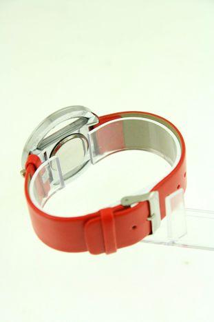Czerwony zegarek damski na skórzanym pasku                                  zdj.                                  3