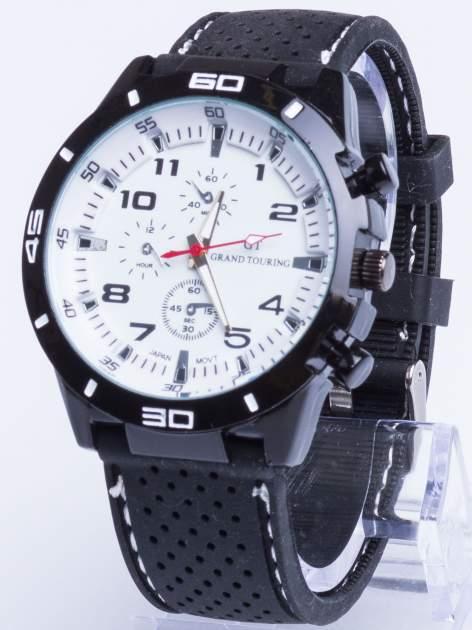 DLA NIEGO... Biały sportowy zegarek męski GT GRAND TOURING