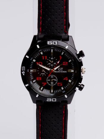DLA NIEGO... Czarno-czerwony sportowy zegarek męski GT GRAND TOURING                                  zdj.                                  3