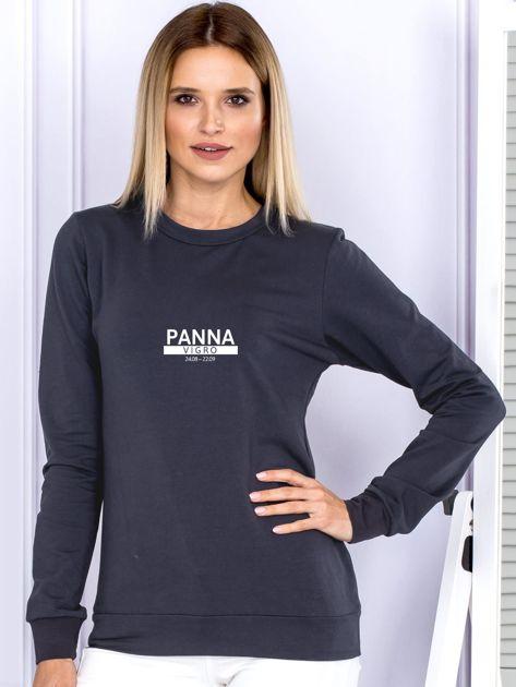 Damska bluza ze znakiem zodiaku PANNA grafitowa                              zdj.                              1