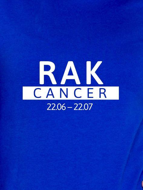 Damska bluza ze znakiem zodiaku RAK kobaltowa                              zdj.                              2