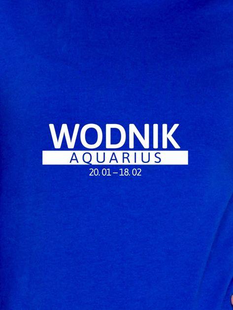 Damska bluza ze znakiem zodiaku WODNIK kobaltowa                              zdj.                              2