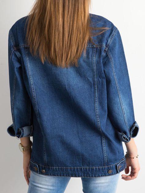 Damska jeansowa kurtka niebieska                              zdj.                              2