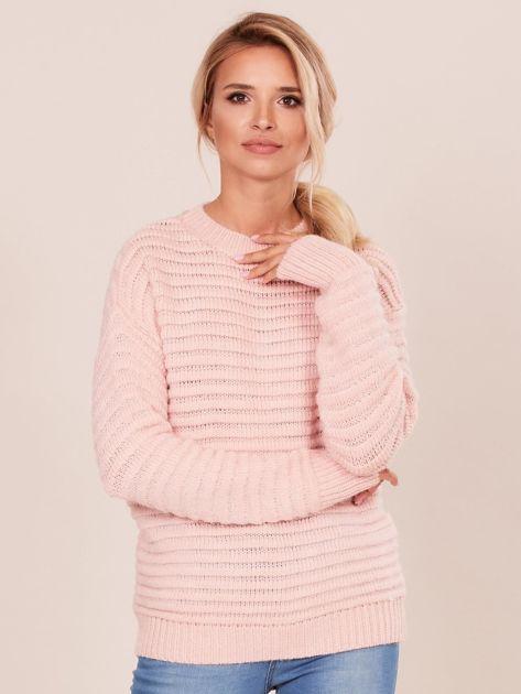 Damski jasnoróżowy sweter damski                              zdj.                              1