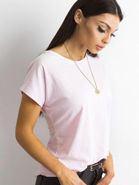 Damski t-shirt jasnoróżowy                              zdj.                              3