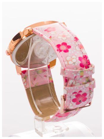 Damski zegarek z motywem kwiatowym na tarczy oraz pasku                                  zdj.                                  4