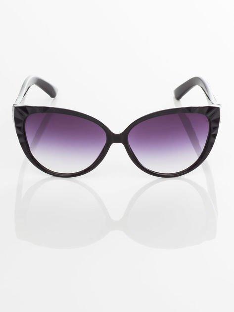 Damskie okulary przeciwsłoneczne z przepięknymi tłoczeniami na oprawkach                                    zdj.                                  1