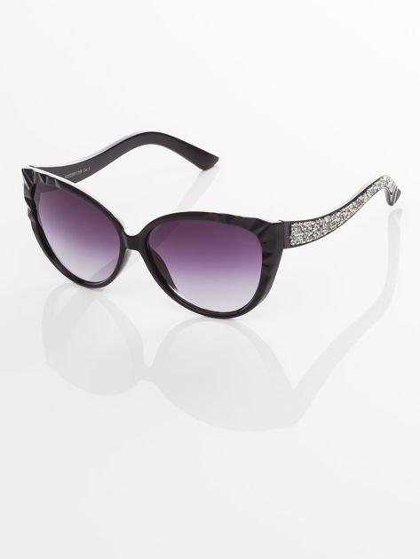 Damskie okulary przeciwsłoneczne z przepięknymi tłoczeniami na oprawkach                                zdj.                              3