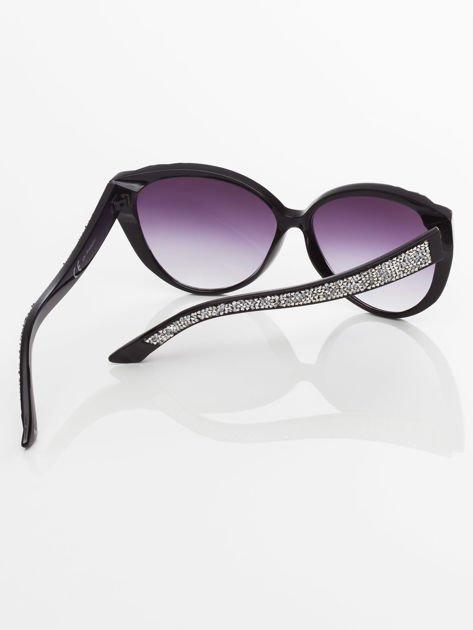 Damskie okulary przeciwsłoneczne z przepięknymi tłoczeniami na oprawkach                                zdj.                              5