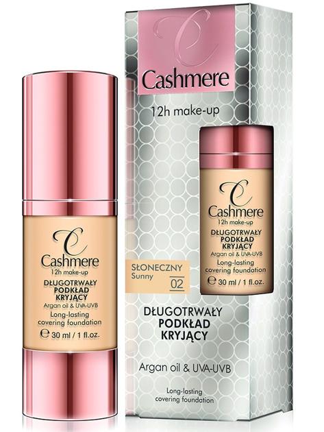 Dax Cosmetics Cashmere Make-up Długotrwały podkład kryjący 02 słoneczny 30 ml