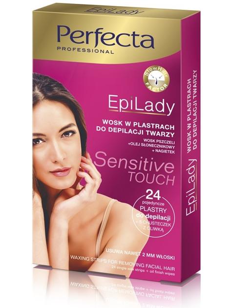 Dax Cosmetics Perfecta EpiLady Wosk do depilacji twarzy w plastrach 1op.- 24szt.