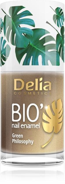 "Delia Cosmetics Bio Green Philosophy Lakier do paznokci nr 608 Satin  11ml"""