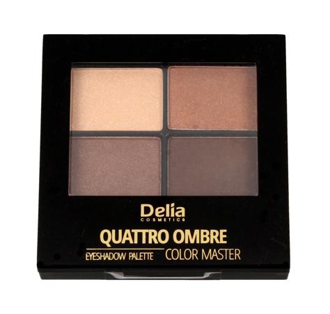 "Delia Cosmetics Color Master Cienie do powiek Quattro Ombre nr 401 Chocolate Pleasure 1szt"""