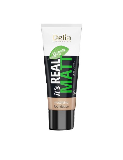 """Delia Cosmetics It's Real Matt Podkład matujący odżywczo-nawilżający nr 101 Porcelain 30ml"""""""
