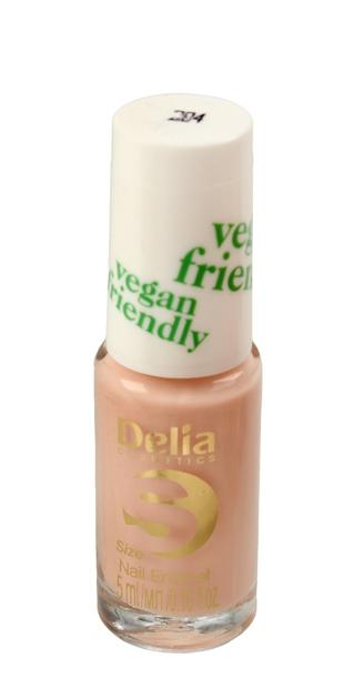 "Delia Cosmetics Vegan Friendly Emalia do paznokci Size S nr 204 Honey Pink  5ml"""