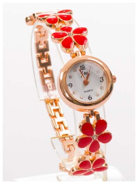 Delikatny śliczny damski zegarek z bransoletką w kształcie kwiatów                                  zdj.                                  3