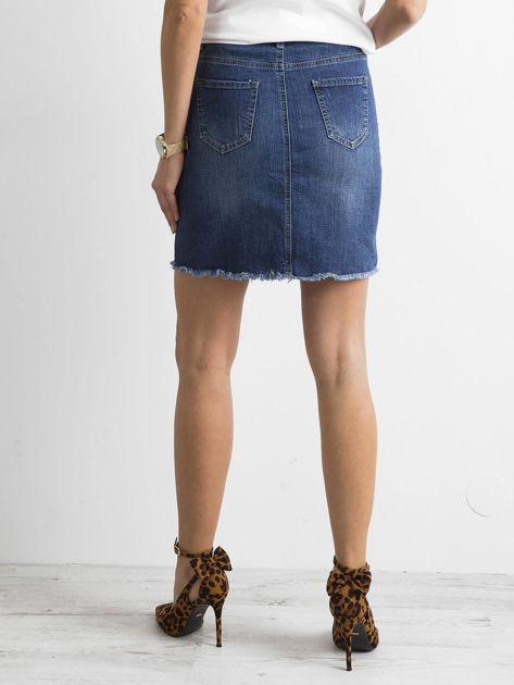 Denimowa spódnica niebieska                              zdj.                              2