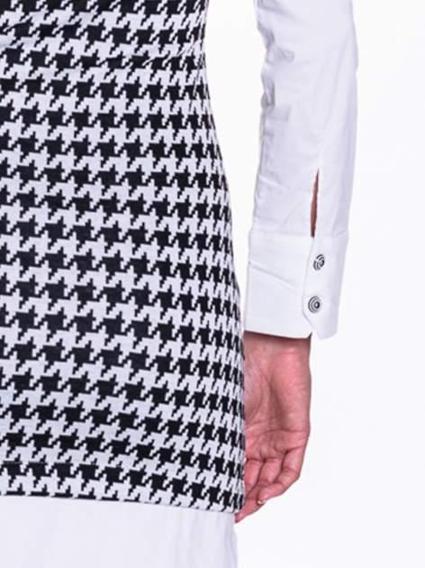 Dwuczęściowa sukienka w pepitkę z białą koszulą                                  zdj.                                  7