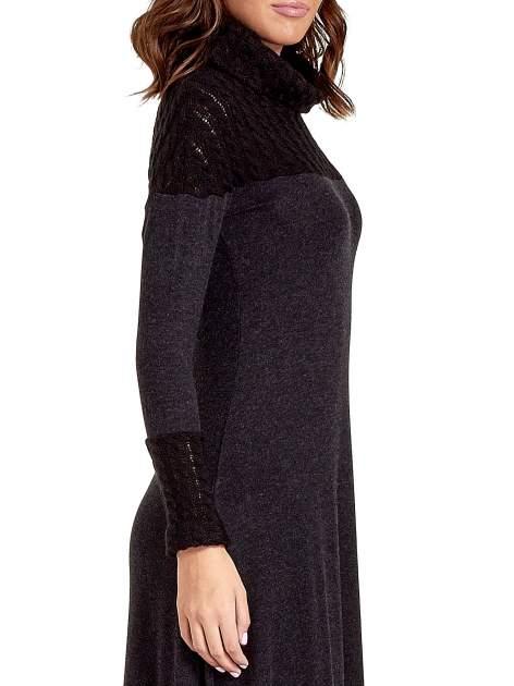 Dzianinowa sukienka maxi z warkoczowym golfem                                  zdj.                                  5