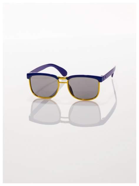 Dziecięce niebieskio-złote okulary przeciwsłoneczne z filtrami                                  zdj.                                  2