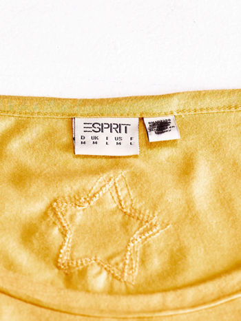 ESPRIT Żółty t-shirt z nadrukiem gwiazdy                                  zdj.                                  4