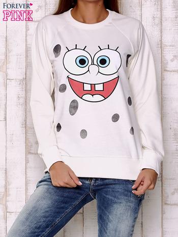 Ecru bluza z bajkowym nadrukiem                                  zdj.                                  1