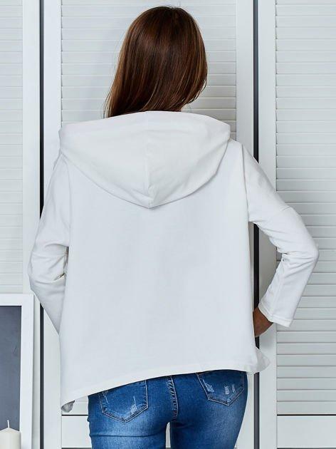 Ecru bluza z kapturem i wstążką                                  zdj.                                  2