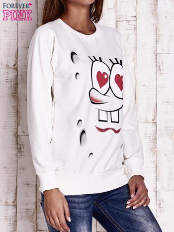 Ecru bluza z motywami komiksowymi                                  zdj.                                  3
