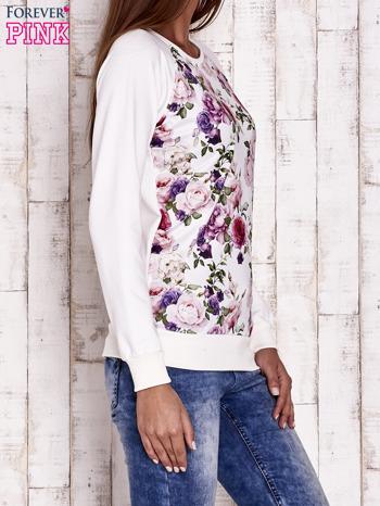 Ecru bluza z motywem róż                                  zdj.                                  3