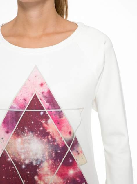 Ecru bluza z nadrukiem galaxy                                  zdj.                                  6