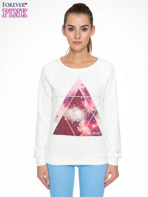 Ecru bluza z nadrukiem galaxy                                  zdj.                                  1
