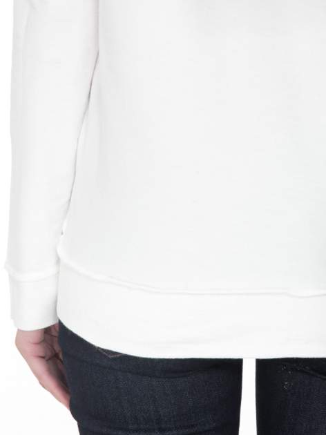 Ecru bluza z nadrukiem numerycznym 23                                  zdj.                                  9