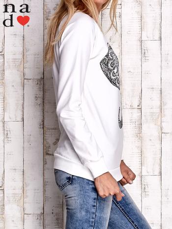 Ecru bluza z nadrukiem słonia                                  zdj.                                  3